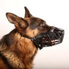 Basket Cage Dog Muzzle with Adjustable Straps Strong Flexible Heavy Duty Plastic