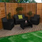 Mylor Rattan Furniture 4 Seater Garden Set Sofa Chairs Coffee Table Patio UKFR