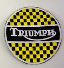 PATCH TRIUMPH MOTORCYCLES EMBROIDERY EMBROIDERED THERMOADHESIVE 8 cm €4.18 EUR on eBay