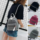Women's Small Mini Shiny Backpack Rucksack Daypack Travel Bag Cute Chain Purse
