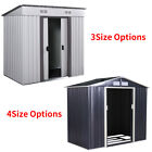 Steel Outdoor Storage Shed Garden Backyard Toolshed House Lawn Waterproof 7 Size