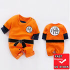 Winter Baby Dragon Ball Goku Costume Newborn Infant Toddlers Boy Cosplay Clothes