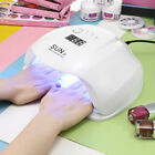 SUN X 48 / 54W UV / LED Woman Nail Dryer Gel Polish Curing Lamp with LCD Display