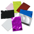 100Pcs Many Size / Color Open Top Aluminum Foil Mylar Bags Heat Seal Food Pouch