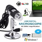 8 LED 1000X Digital Microscope Endoscope Magnifier Electronic Video Camera LOT