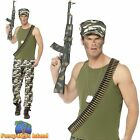 Army Economy Green World War Soldier Private Military Mens Fancy Dress Costume