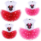 Girls Baby Toddler Polka Dots 1st 2nd Birthday Outfit Party