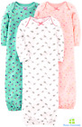 Baby Sleeper Gown Pack Cotton Clothes For Girl Infant Newborn 0-3 Months Babies