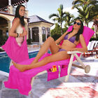 Lounge Chair Beach Towel Cover Quick Dry Sunbathing Terry Towels 210x75cm
