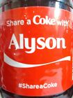 "2014 SHARE A COKE WITH ""A"" NAMES COLLECTIBLE COCA-COLA BOTTLE LIMITED EDITION"