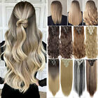 Thick Real Natural as human 8Pcs Full Head Clip In Hair Extensions High Quality