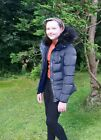 Charcoal Fashion Girl's Back to School Navy Winter Puffa Jacket
