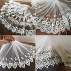 1Yard Embroidered Cotton Lace Edge Trims Fabric Tulle Mesh Craft Ribbon Sewing
