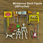 Miniatures Skull Figure Pose Skeleton Adult Collector Action Acces Bone Toy Gift