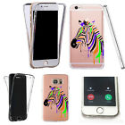 Silicone 360° Full Protection Cover Case For Most Mobiles stripe zebra
