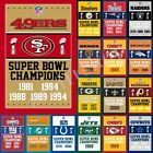 33  NFL Flag H1 Super Bowl Champions 3X2FT 5X3FT 6X4FT 100D Polyester Banner