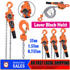 3M Chain Lever Lift Hoist Block 750/1500/3000KG 0.75/1.5/3T Lever Hoist Ratchet