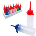 10 Pack Empty Transparent Squeeze Plastic Bottles For Sand Art Glue Refill 60ml