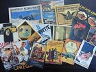 BB09B -- Lot of 16 Vintage CAR POSTER DIE CUTS for CARD MAKING Free Shipping