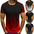 Men's Slim Fit O Neck Short / Long Sleeve Muscle Tee T-shirt Casual Tops Blouse