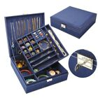 Large Capacity Double-tier Jewelry Make up Box Storage Case Boîtes à bijoux