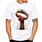 US Chic Winter Is Coming Tees Mens Official Game Of Thrones Stark Merch T Shirts