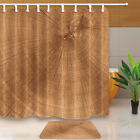Dry Cracked Tree Trunk Waterproof Fabric Shower Curtain & 12 Hooks 71*71 Inch