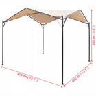 Gazebo Pavilion Tent Canopy Sun Shade Beige Outdoor Party Marquee Tent 4x4m/3x3m