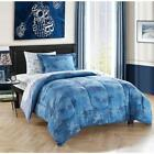 Bed Camo Print Accessories Comfy Stylish Soft Decorative Microfiber Grey Blue