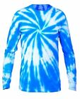 Gildan men women tie dye T shirt YL S M L XL 2XL cotton long