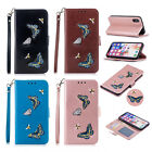 Fashion Embossed Butterfly Magnetic Pattern Wallet Card Leather Flip Case Cover