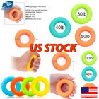 US 7cm Strength Finger Hand Grip Muscle Power Training Rubber Ring Exerciser image