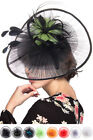 C.C Exclusive Derby Women Fashion Flower Sinamay Fascinator Headband Hair Piece