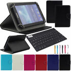 "US For Acer 7"" 8"" 10.1"" Tablet Universal Leather Case Cover+Bluetooth Keyboard"