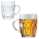 Classic Beer Pint Mugs Glass Pot Old Pub Bar Style Tankard Handle Stein Dimple
