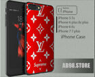 Special New! Louis-Vuitton71US X SupremeRed Print Case iPhone (X) (7) (6) (!)(!)