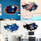 Us 3d Outer Space Wall Stickers Mural Art Removable Wall Decals Home Kid Bedroom