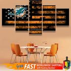 Miami Dolphins American Flag 5 pcs Painting Canvas Wall Art Poster Home Decor on eBay