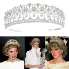 Vintage Wedding Bridal Pearl Crown Diana Tiara Princess Hair Accessory