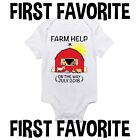 Farm Help Custom Baby Onesie Shirt Pregnancy Announcement Shower Gift Gerber