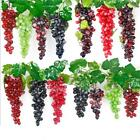 Внешний вид - Artificial 85 Grapes Plastic Fake Fruit Bunch Lifelike Rubberiz Food Home Decor