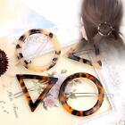 Women Geometric Triangle Round Leopard Hairpin Hair Clips Pi
