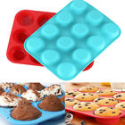 12 SILICONE LARGE MUFFIN YORKSHIRE PUDDING MOULD BAKEWARE CUPCAKE BAKING TRAY