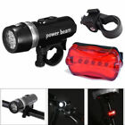 Waterproof 5 LED Lamp Bike Bicycle Front Head Light & Rear Safety Flashlight Set