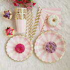 supplies hot tableware cups pink napkins gilding