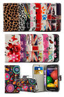 Alcatel One Touch Pixi 3 (4.5) 4027 Colourful Printed Pattern Wallet Case Cover