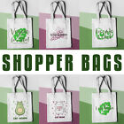 Funny Shopper Bags Cat Vegan Wine Avocado Womens Shopping Bag Tote Reusable Gift
