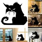 Black Cat Vinly Wall Stickers Halloween Terror Glass Decorat