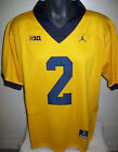 MICHIGAN WOLVERINES #2 WOODSON or #5 PEPPERS Sewn Jersey BLUE or YELLOW