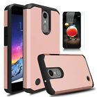 For LG Aristo 2/Aristo 3/3 Plus/Tribute Empire Case Cover With Screen Protector